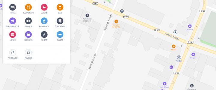 Aperçu de Qwant Maps